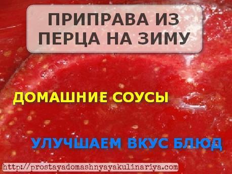 Priprava iz pertsa na zimu gotovaya domashnyaya zagotovka
