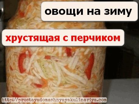 Salat iz kapusty i pertsa na zimu