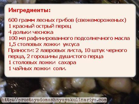 Mushrooms seasoning ingredients