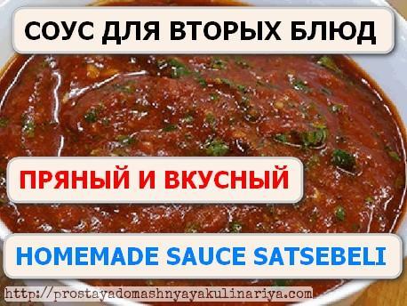 Homemade sauce satsebeli
