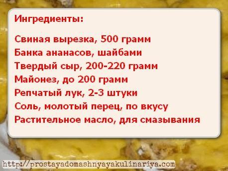 Myaso po-frantsuzski s ananasami 1